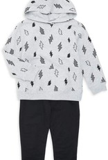 Little Me Bolts Sweatshirt Set