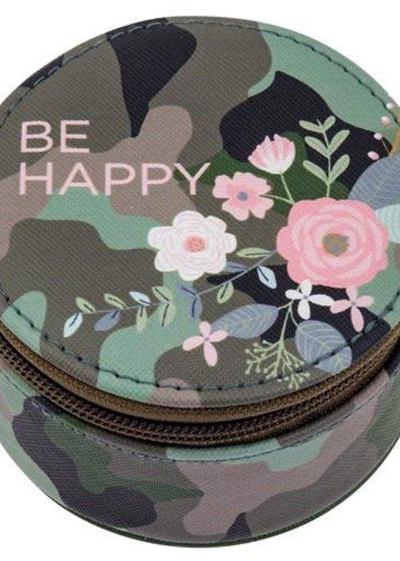 Karma Round Travel Case-Be Happy