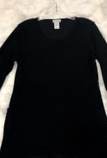 Jerell Clothing Company Three Quarter Sleeve Scoop Hi-Lo Ottoman Tunic  Top