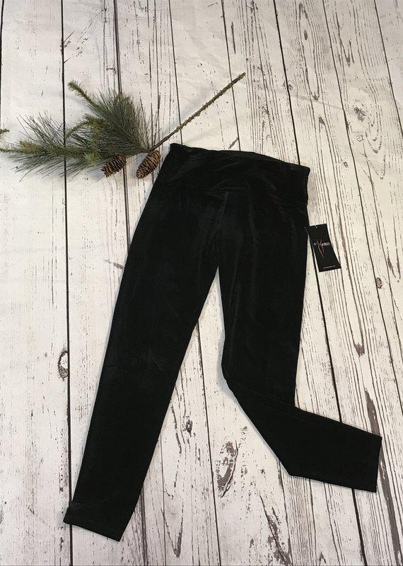 Multiples Solid Stretch Velvet Pants
