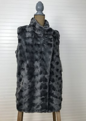 Jerell Clothing Company Stand Collar Fur Vest