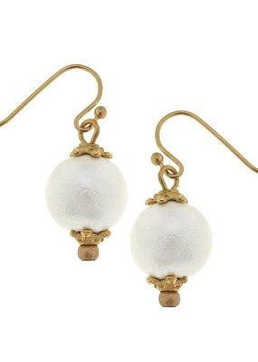 Susan Shaw Cotton Pearl Earring