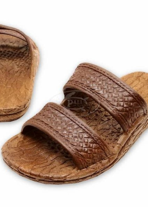 Pali Hawaii Kids Jandal- Brown