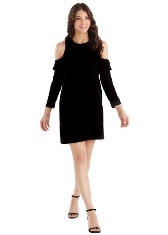 Mud Pie Aria Cold Shoulder Dress-Black-L