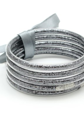 What's Hot Jewelry Set of 5 Bangles Glitter