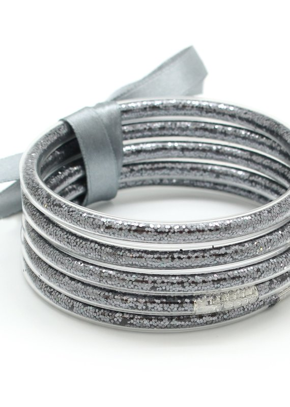 What's Hot Jewelry Set of 5 Bangles Glitter