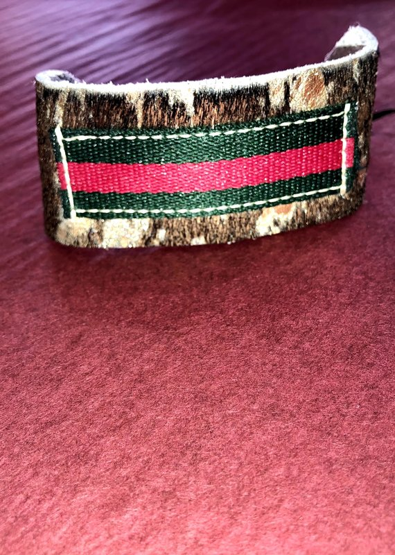 Embellishments on 7 Cow Hide Gucci Cuff