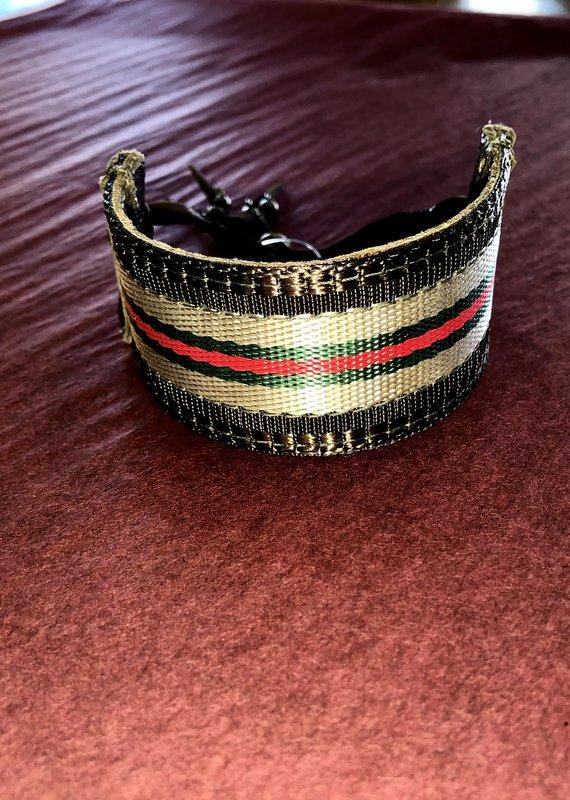 Embellishments on 7 Repurposed Gucci Leather Cuff