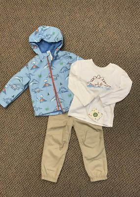 Little Me Dino Jacket Set