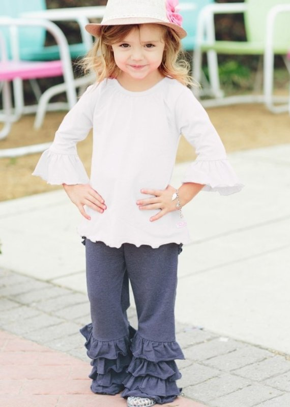 Rufflebutts Denim Fancy Flare Pants