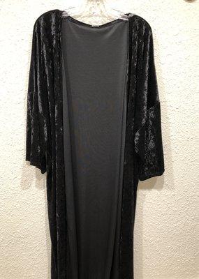 Lovely J Abigayle Velvet Long Kimono -3X