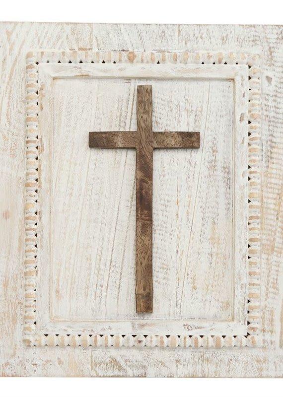 Mud Pie Rectangle Wood Cross Plaque