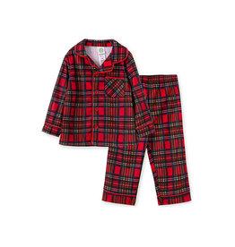 Little Me Red Plaid Coat PJ