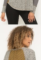 Mystree Inc. Animal Print Top W/ Thermal Back