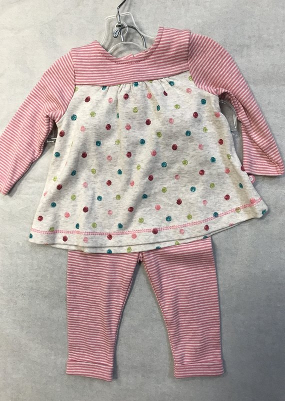 Little Me Dot Tunic Set-6M