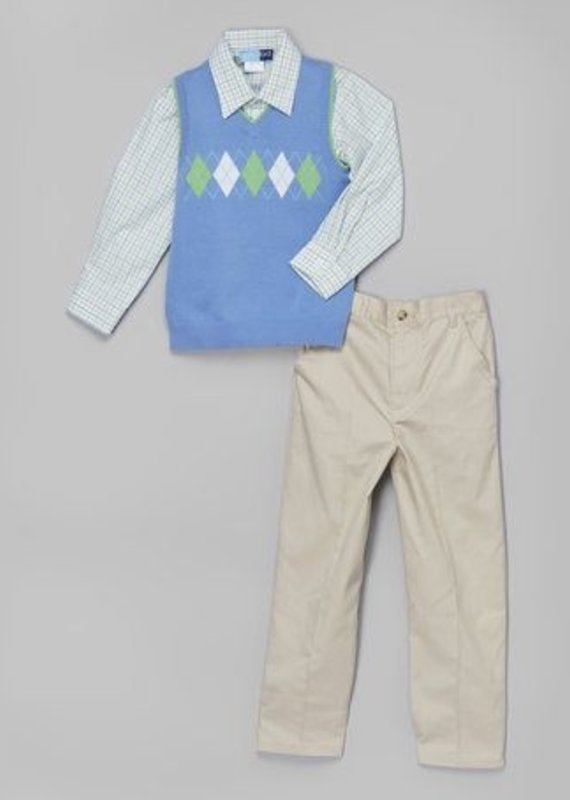 Good Lad Apparel 3 piece Periwinkle set