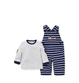 Little Me Train Overall Set