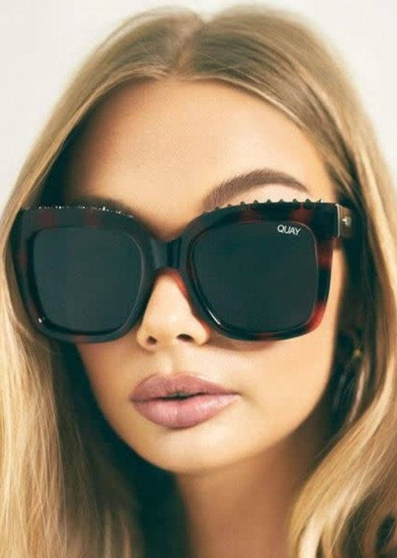 Quay Australia Icy Sunglasses-TortStud/Smk