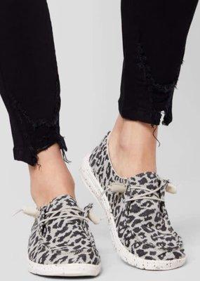 Hey Dude Wendy Woven Cheetah Grey