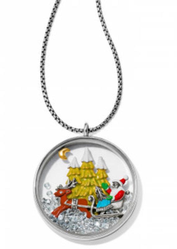 Brighton Santa's Sleigh Shaker Necklace