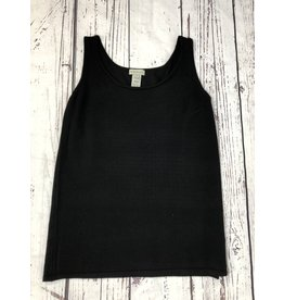 Multiples Scoop Neck Solid Sweater Tank