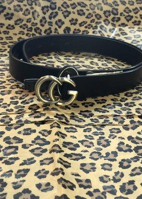 Landes Bovine Leather Belt-Black