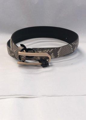 Landes Bovine Leather Belt-Snake