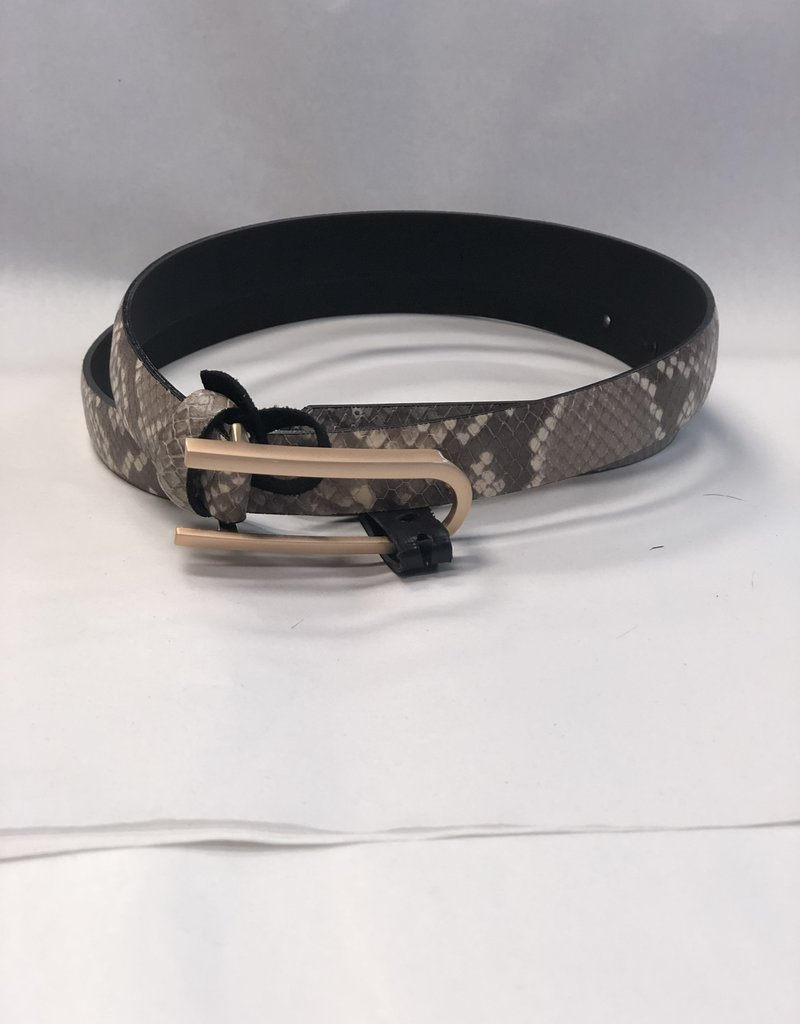 Landes Bovine Leather Belt-Snake