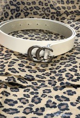 Landes Bovine Leather Belt-White