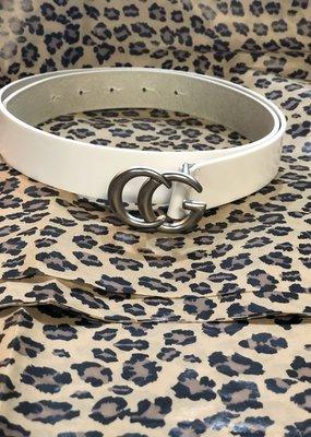 Landes Bovine Leather Belt-White