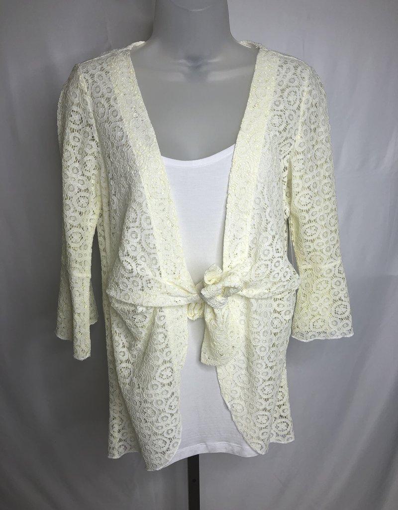 Jerell Clothing Company 3/4 Flounce Sleeve Open Front