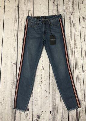 Just Black Denim Striped Skinny Jean