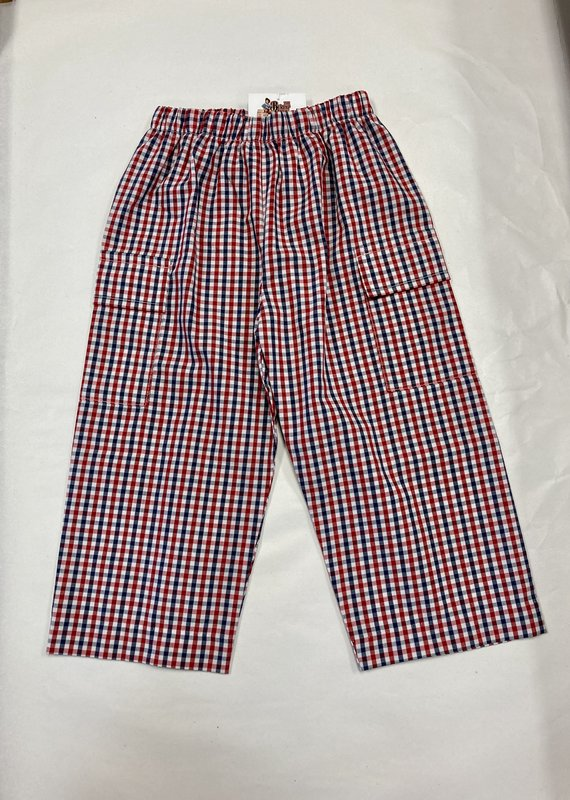 Three Sisters Boys Plaid Pants -Red