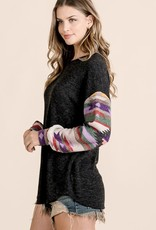First Love Aztec Print Body Bubble Long Sleeve