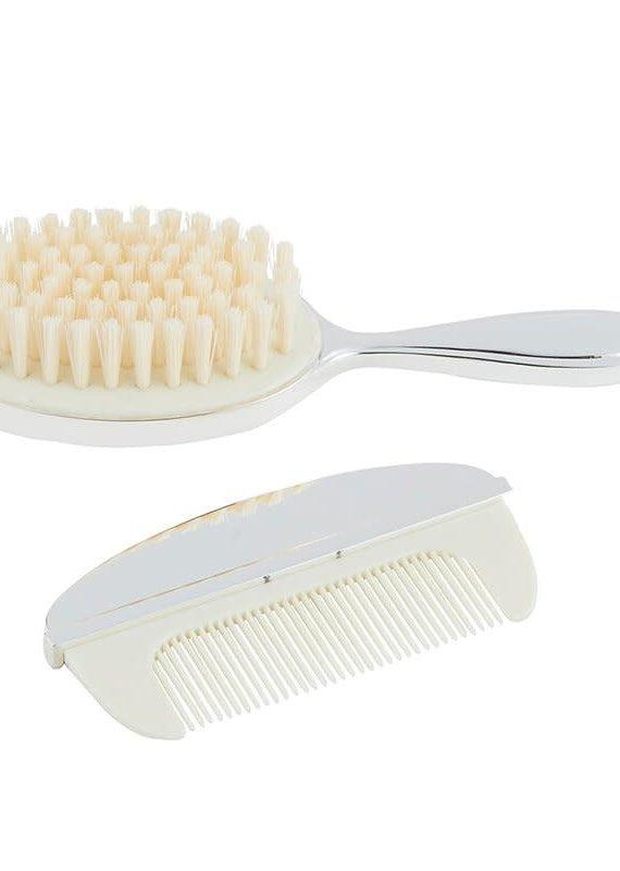 Stephan Baby Keepsake Silver Brush & Comb