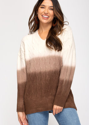 She+Sky Ombre Sweater Top