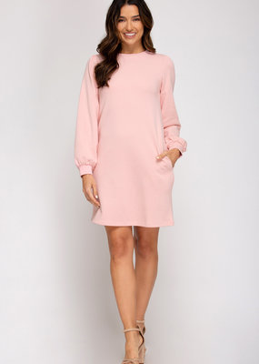 She+Sky French Terry Knit Dress