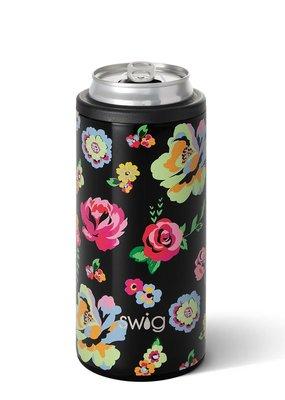 Swig Swig 12oz Skinny Can Cooler-Fleur Noir