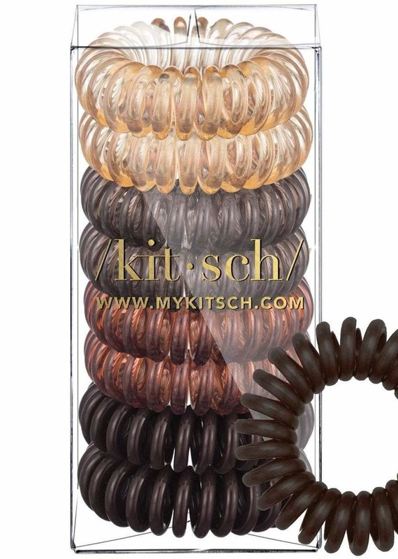 Kitsch Hair Coils 8pk-Brunette