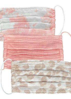 Kitsch Cotton Mask 3pc Set-Blush