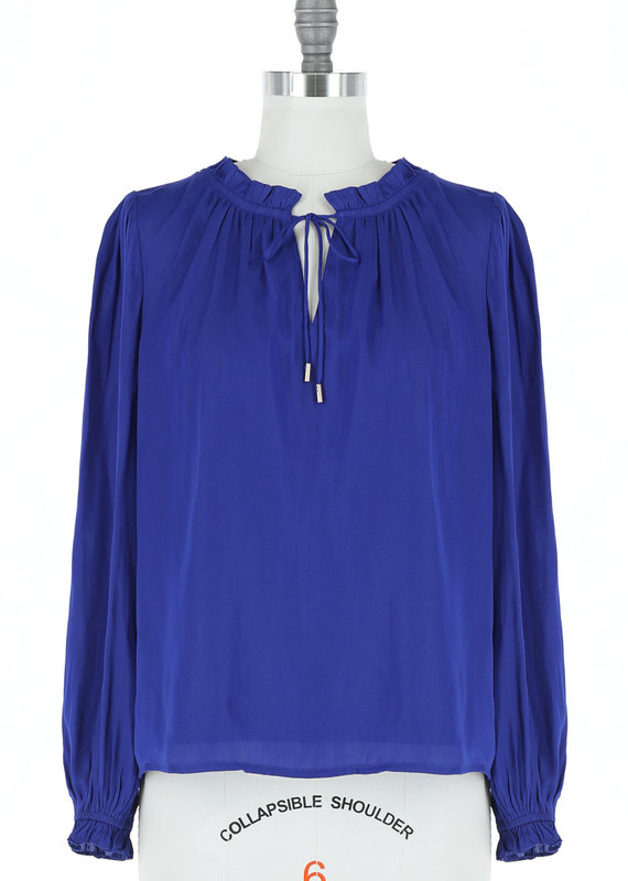 Skies Are Blue First And Foremost Sophia Ruffled Blouse
