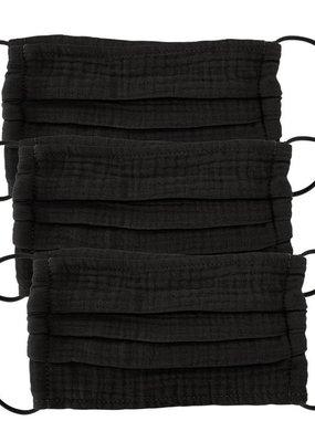 Kitsch Cotton Mask 3pc Set-All Black