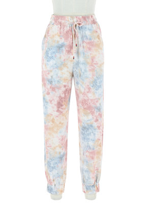 Skies Are Blue Pastel Tie Dye Joggers