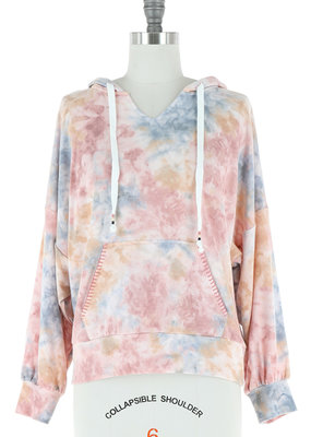 Skies Are Blue Pastel Tie Dye Hoodie
