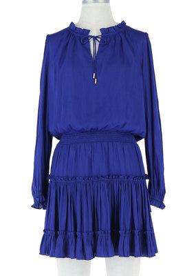 Skies Are Blue Long Sleeve Ruffled Mini Dress