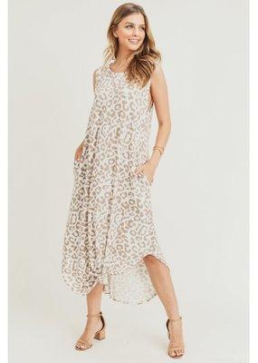 JODIFL Leopard Print Midi Dress
