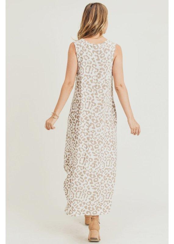 JODIFL Still Chasing You Leopard Print Midi Dress