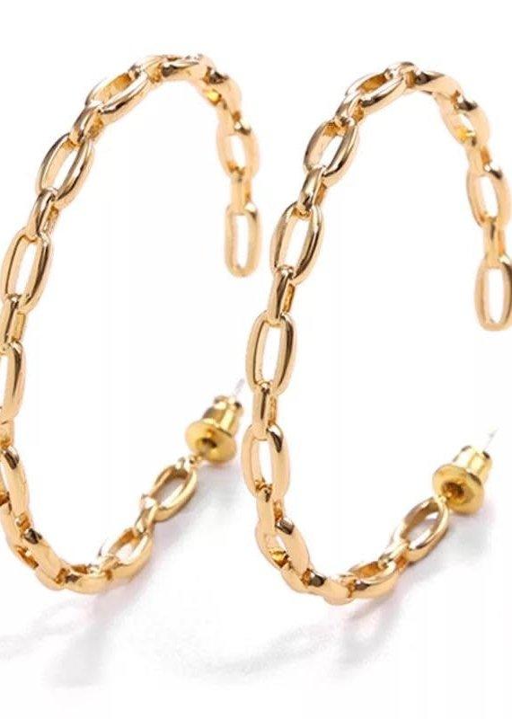 Treasure Jewels Chain Hoop