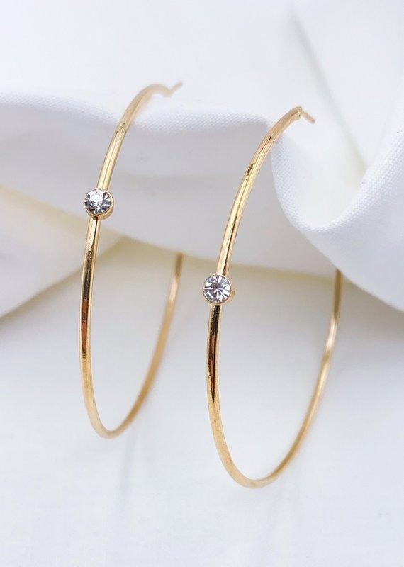 Treasure Jewels Hoop 1 Crystal