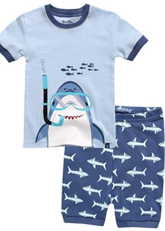 Vaenait Baby Scuba Shark Pajama Set